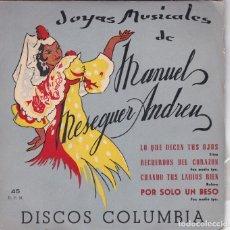 Discos de vinil: MANUEL MESEGUER ANDREU,JOYAS MUSICALES. Lote 83711744