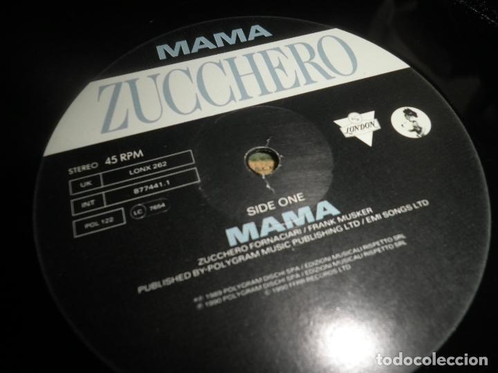 Discos de vinilo: ZUCCHERO - MAMA - MAXI 45 RPM - ORIGINAL INGLES - LONDON RECORDS 1989 - - Foto 8 - 83715968