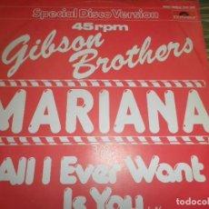 Dischi in vinile: GIBSON BROTHERS - MARIANA - MAXI 45 RPM - ORIGINAL ALEMAN . POLYDOR 1980 - MUY NUEVO (5).. Lote 83716788