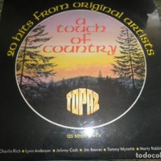 Discos de vinilo: A TOUCH OF COUNTRY LP - ORIGINAL INGLES - TOPAZ RECORDS 1976 - STEREO -. Lote 83733128