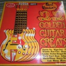 Discos de vinilo: BERT WEEDON - 22 GOLDEN GUITAR GREATS LP - EDICION INGLESA - WARWICK RECORDS 1976 - STEREO -. Lote 83740156