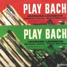 Discos de vinilo: 2 LP. DEL TRIO JACQUES LOUSSIER - PLAY BACH - VOL. 1 Y 2 - JAZZ FUSION ORIGINALES DECCA 1962. Lote 83746772