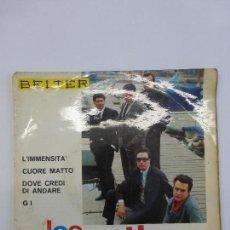 Discos de vinilo: LOS CATINOS - L´IMMENSITA´, CUORE MATTO, DOVE CREDI DI ANDARE. GI.. Lote 83752720
