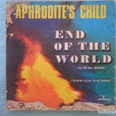 Discos de vinilo: SOLO PORTADA SIN DISCO DENTRO -- APHRODITE´S CHILD - END OF THE WORLD -REFM1E3. Lote 83753084