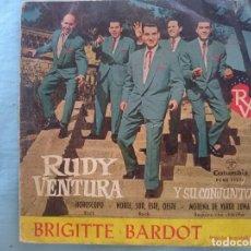 Discos de vinilo: RUDY VENTURA -BRIGITTE BARDOT-HOROSCOPO-NORTE SUR ESTE OESTE-ETC -REFM1E3. Lote 83753604