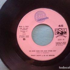 Discos de vinilo: PEGGY SCOTT Y JO JO BENSON --WE WERE MADE FOR EACH OTHER - SOULSHAKE -REFM1E3. Lote 83754148