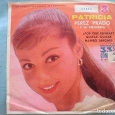 Discos de vinilo: PATRICIA PEREZ PRADO --POR QUE ESPERAR-QUIZAS QUIZAS-MAMBO JAPONES -REFM1E3. Lote 83754236