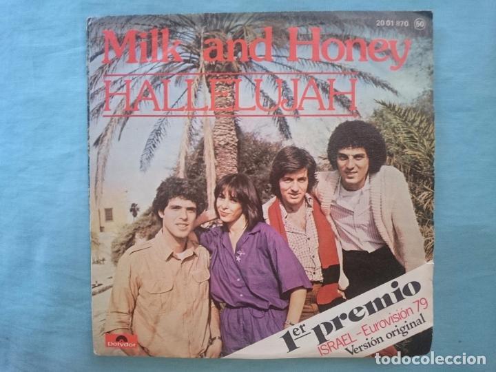 MILK AND HONEY - HALLELUJAH - PRIMER PRECIO EUROVISION 1979 (Música - Discos - Singles Vinilo - Festival de Eurovisión)