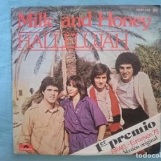 Discos de vinilo: MILK AND HONEY - HALLELUJAH - PRIMER PRECIO EUROVISION 1979 -REFM1E3. Lote 83755032