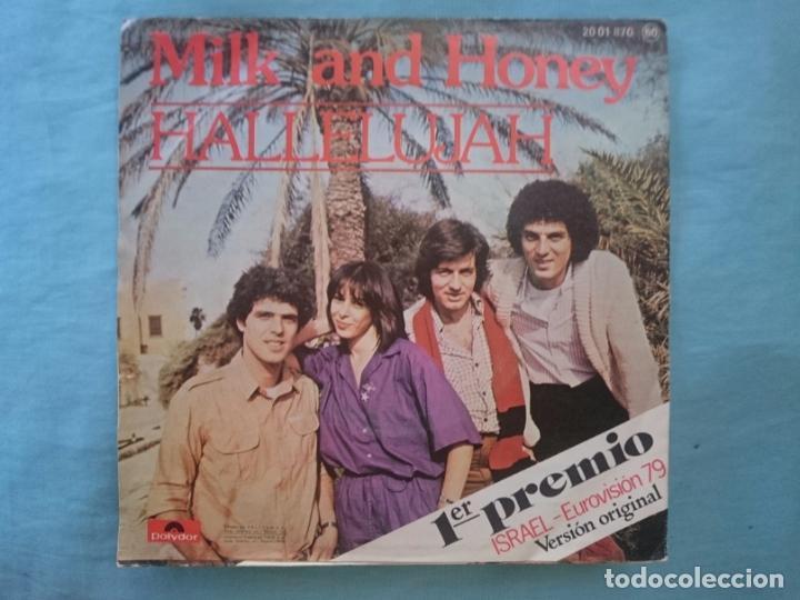 Discos de vinilo: MILK AND HONEY - HALLELUJAH - PRIMER PRECIO EUROVISION 1979 - Foto 2 - 83755032