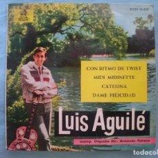 Discos de vinilo: LUIS AGUILE -- CON RITMO DE TWIST-MIDI MIDINETTE-CATERINA-DAME FELICIDAD -REFM1E3. Lote 83755348
