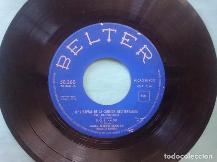 Discos de vinilo: II FESTIVAL DE LA CANCION MEDITERRANEA --CAMINITO DEL ALMA -TU CALLE-YO TRANQUILO-S.O.S. AMOR -RefM - Foto 2 - 83756712