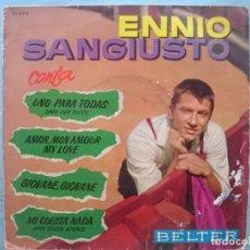 Discos de vinilo: ENNIO SANGIUSTO --UNO PARA TODAS-AMOR MON AMOUR MY LOVE-ETC -REFM1E3. Lote 83757488