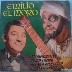 Discos de vinilo: EMILIO EL MORO --EL EMIGRANTE-TRIGO LIMPIO-SI VAS A CALATAYUD-EL RELICARIO -REFM1E3. Lote 83757800
