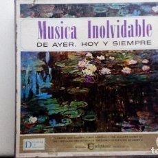 Discos de vinilo: 12 VINILOS MUSICA INOLVIDABLE DE AYER HOY Y SIEMPRE EDICIÓN 1985. Lote 83772160