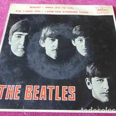Discos de vinilo: THE BEATLES – MISERY / ANNA (GO TO HIM) / P.S. I LOVE YOU / I SAW HER STANDING THERE - EP 1964. Lote 83773032