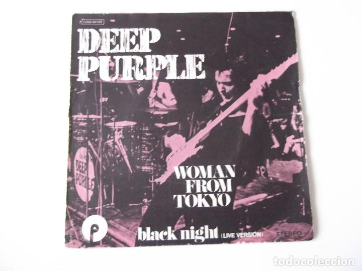 DEEP PURPLE - WOMAN FROM TOKYO / BLACK NIGHT (LIVE VERSIÓN) (Música - Discos - Singles Vinilo - Pop - Rock - Extranjero de los 70)