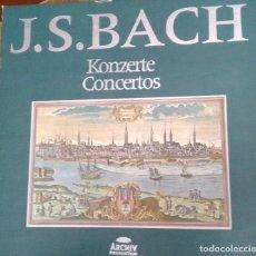 Discos de vinilo: KONZERTE - CONCERTOS - J. S. BACH. Lote 83828904