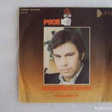 Discos de vinil: PSOE, COMPAÑERO UNETE, MI PUEBLO ES, DIANA FONOGRAM S.A. 1977. Lote 83829060