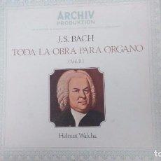 Discos de vinilo: BACH. TODA LA OBRA PARA ORGANO VOL 2. HELMUT WALCHA. 7 LP. EN ESTUCHE. Lote 83829828
