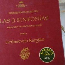 Discos de vinilo: LAS 9 SINFONÍAS BEETHOVEN ORQUESTA DE BERLÍN HERBERT VON KARAJAN DEUTSCHE GRAMMOPHONE. Lote 83834648