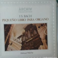 Discos de vinilo: J. S. BACH PEQUEÑO LIBRO PARA ORGANO HELMUT WALCHA ARCHIV PRODUKTION. Lote 83835344