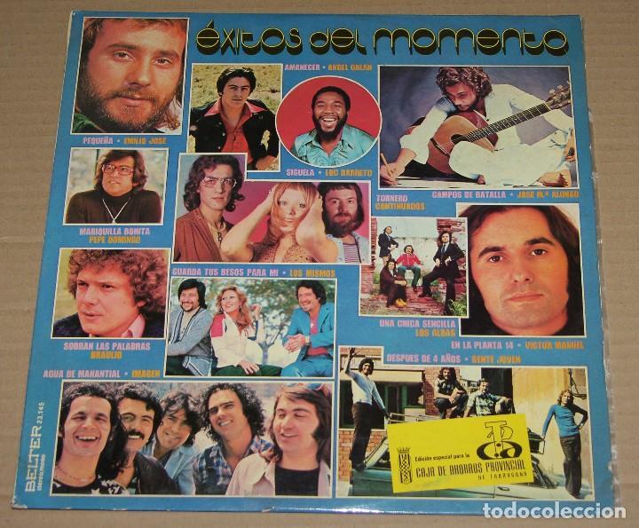 EXITOS DEL MOMENTO - LOS MISMOS / LOS ALBAS / VICTOR MANUEL / CONTINUADOS / GENTE JOVEN - LP (Música - Discos - LP Vinilo - Grupos Españoles de los 70 y 80)