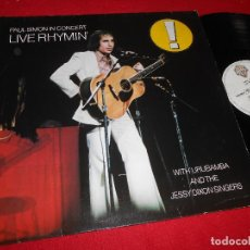 Discos de vinilo: PAUL SIMON IN CONCERT LIVE RHYMIN' LP 1974 WARNER BROS EDICION ALEMANIA GERMANY. Lote 83888468