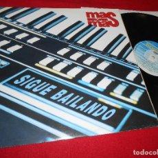 Discos de vinilo: MAS Y MAS SIGUE BAILANDO/SIGUE BAILANDO INSTRUMENTAL/CORTAME EL PELO MX 12'' 1990 FONOMUSIC SPAIN. Lote 83922664