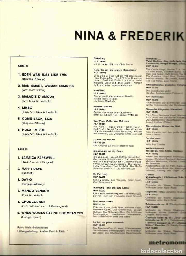 Discos de vinilo: 2 LP´S NUEVOS DE NINA & FREDERIK ( METRONOME RECORDS, GERMANY ) - Foto 2 - 83934148