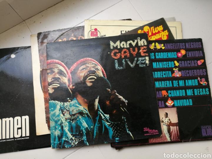 LOTE DE 7 DISCOS DE VINILO ANTIGUOS. MARVIN GAYE, PASODOBLES, ANTONIO MACHÍN, ETC (Música - Discos de Vinilo - Maxi Singles - Otros estilos)