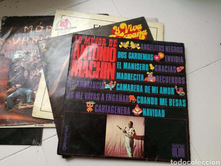 Discos de vinilo: Lote de 7 discos de vinilo antiguos. Marvin Gaye, pasodobles, Antonio Machín, etc - Foto 2 - 83936375