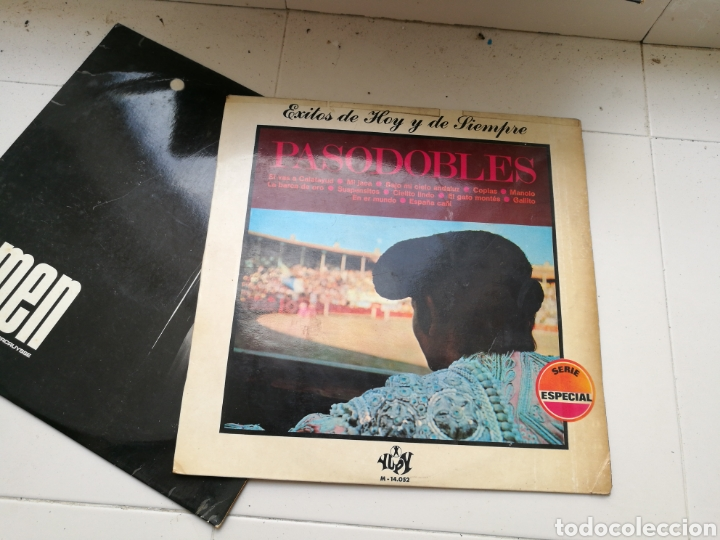 Discos de vinilo: Lote de 7 discos de vinilo antiguos. Marvin Gaye, pasodobles, Antonio Machín, etc - Foto 6 - 83936375
