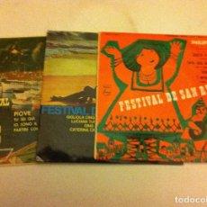 Discos de vinilo: SAN REMO -LOTE DE 3. Lote 83949336