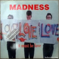 Discos de vinilo: MADNESS. IT MUST BE LOVE/ BED AND BREAKFAST MAN. VIRGIN, UK 1992 (SINGLE PROMOCIONAL) . Lote 83950060