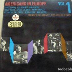 Discos de vinilo: VARIOS (BILL SMITH, BUD POWELL TRIO, ...) AMERICANS IN EUROPE VOL. 1 HISPAVOX AS-36 LP SPAIN. Lote 83954828