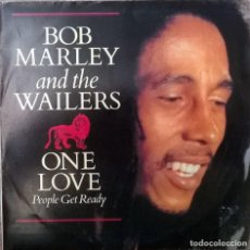 Discos de vinilo: BOB MARLEY. ONE LOVE/ PEOPLE GET READY/ SO MUCH TROUBLE IN THE WORLD. ISLAND, SPAIN 1984 SINGLE. Lote 83958580