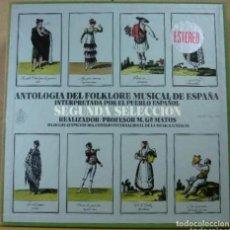 Discos de vinilo: ALBUM DISCOS BOX: ANTOLOGIA FOLKLORE MUSICAL ESPAÑA INTERPRETADO POR EL PUEBLO ESPAÑOL - 1973. Lote 83640980