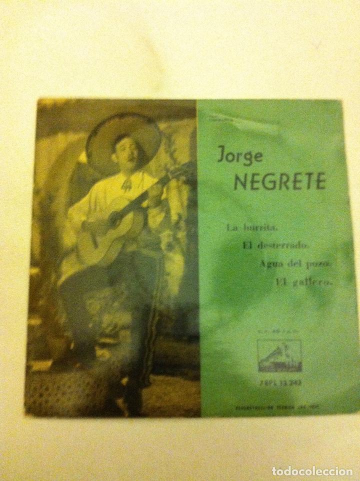 JORGE NEGRETE - LA BURRITA.... (Música - Discos de Vinilo - EPs - Cantautores Extranjeros)