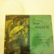 Discos de vinilo: JORGE NEGRETE - LA BURRITA..... Lote 84002720