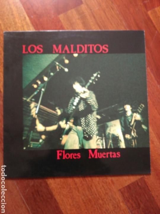 LOS MALDITOS FLORES MUERTAS (LETRAS Y NOTA PRENSA) (Música - Discos - LP Vinilo - Grupos Españoles de los 90 a la actualidad)
