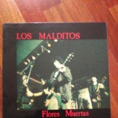 Discos de vinilo: LOS MALDITOS FLORES MUERTAS (LETRAS Y NOTA PRENSA). Lote 84034960