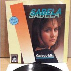 Discos de vinilo: SABELA. GALEGO MIX. MAXI SG / HORUS - 1989 / MBC. ***/***. Lote 84110960