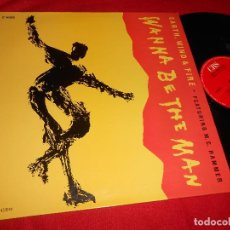 Discos de vinilo: EARTH WIND AND FIRE FEAR.MC HAMMER. WANNA BE THE MAN +3 12 MX 1990 ESPAÑA SPAIN PROMO. Lote 84114336