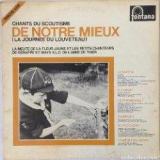 Discos de vinilo: CHANTS DU SCOUTISME , DE NORTE MIEUX 1967_ FOLK. Lote 84021244