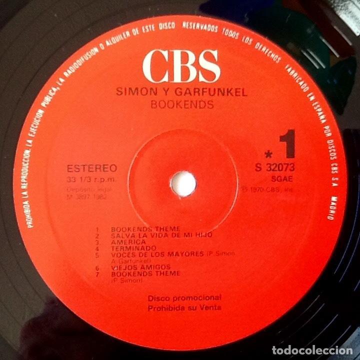 Discos de vinilo: SIMON & GARFUNKEL : BOOKENDS [ESP 1982] - Foto 3 - 84132572