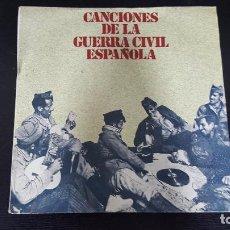 Discos de vinilo: CANCIONES DE LA GUERRA CIVIL ESPAÑOLA.FALANGISTA SOY, AY CARMELA,SOY EL NOVIO DE LA MUERTE, COPLAS D. Lote 84132716