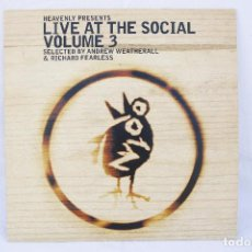 Discos de vinilo: DISCO VINILO LP - LIVE AT THE SOCIAL VOLUME 3 - ANDREW WEATHERALL RICHARD FEARLESS - REACT 1998 UK. Lote 84157084