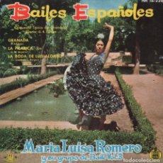 Discos de vinilo: MARIA LUISA ROMERO Y SU GRUPO DE BAILE VOL. 3 - BAILES ESPAÑOLES / EP HISPAVOX DE 1961 RF-2270. Lote 210777047