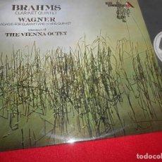 Discos de vinilo: THE VIENNA OCTET BRAHMS CLARINET QUINTET WAGNER ADAGIO CLARINET&STRING QUINTET LP 1971 PROMO SPAIN. Lote 84162588